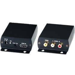 HDMI to Composite Video with Stereo Audio Converter