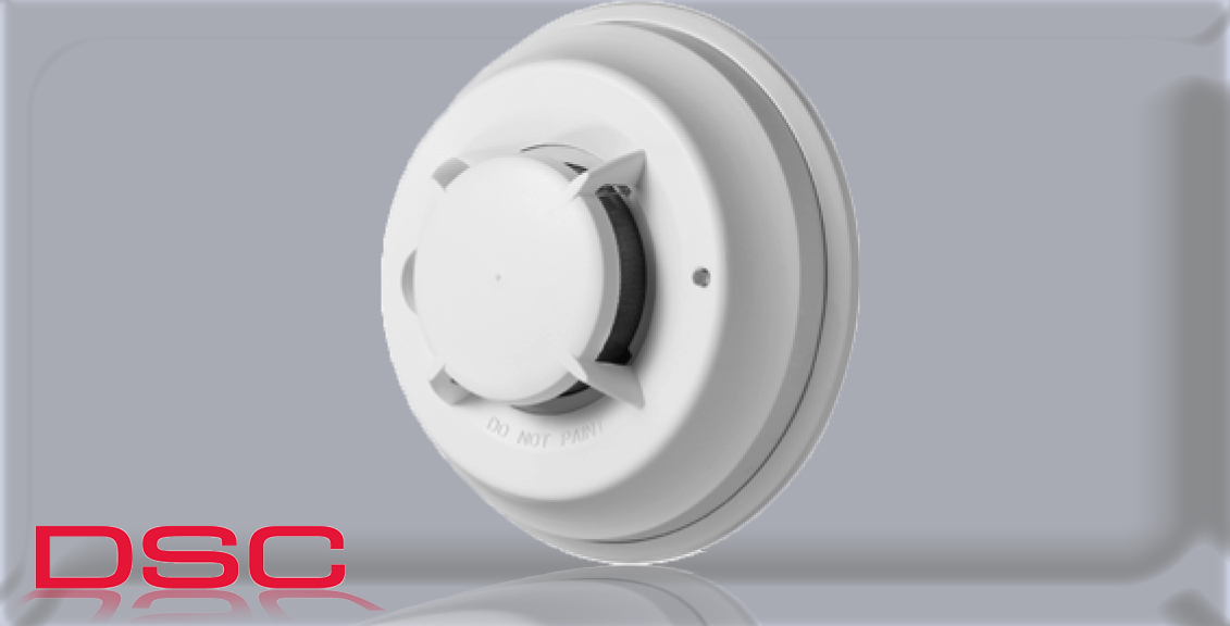 Wireless Photoelectric Smoke Detector with Heat  DSC