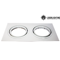 Square Recessed QR Double Ram DJ 2XQR111 White