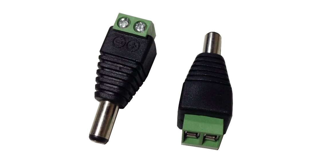 DC Connector Male Green + 2 Screws