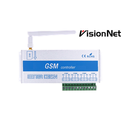 GSM unit universal with 4 outputs and cellular remote control