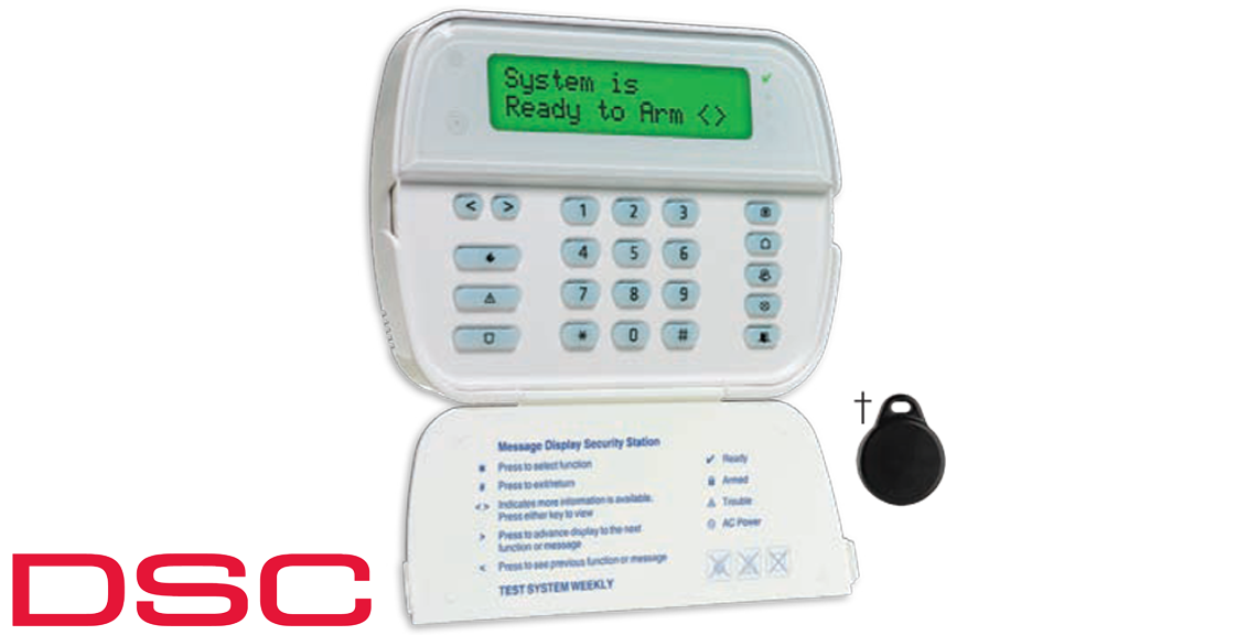 2Way Wireless Wire Free Keypad DSC