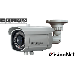 Outdoor 4 in 1 IR Bullet Camera,1/3 CMOS,4.0MP,42pcs,2.8-12mm Vai-focal,OSD,IP66,White PAL