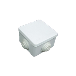 Junction Box with Rubber Glands 80x80x50