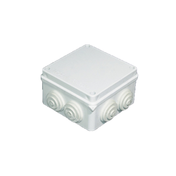 Junction Box with Rubber Glands 100x100x70