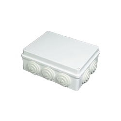 Junction Box with Rubber Glands 200x155x80