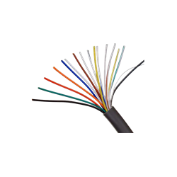 Alarm Cable 16C(6005), Foil, Ripcord, 7x0.25mm, CCA, Drain Wire, 8.0mm, Gray, Fire Resistant, 200M, Wooden Drum
